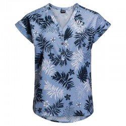 Блуза VICTORIA LEAF SHIRT W 1402911-7756 Jack Wolfskin, цвет  Синий