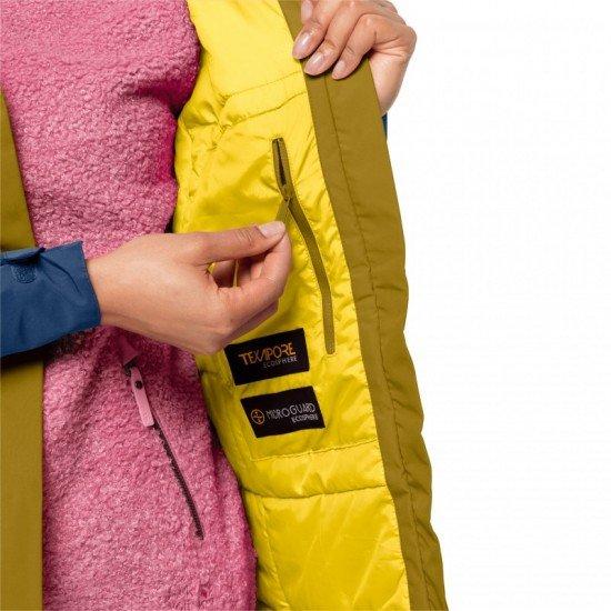 Фото Куртка утепленная 365 HIDEAWAY JACKET W (1113291-8158) , Цвет - желтый, синий, серый Смотреть