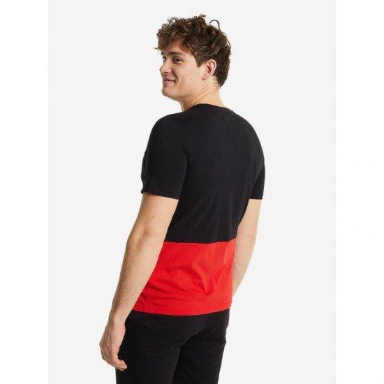Футболка для мужчин-Men's T-shirt, цвет - черный, красный