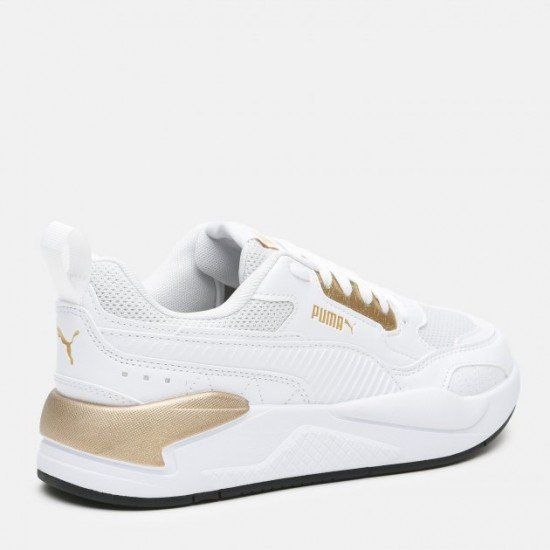 Кроссовки Puma X-Ray 2 Square Metallic 36885502  White-Team Gold-Black (4063697766143), цвет - белый