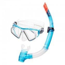 Комплект маска и трубка SEAL SET (SEAL SET-TURQUOISE/TRANSPARENT) , Цвет - бирюзовый, прозрачный