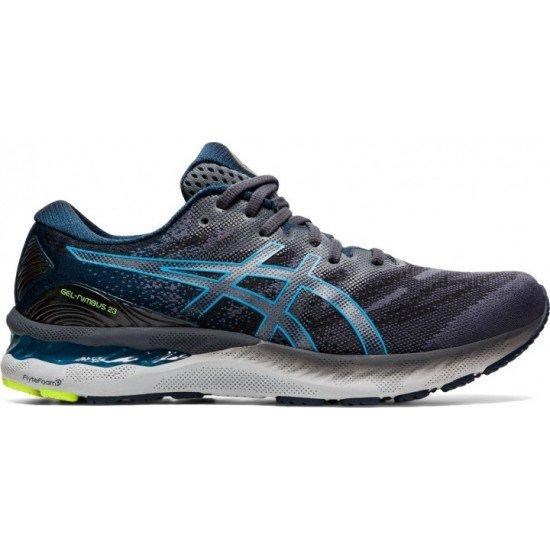 Кроссовки ASICS Gel-Nimbus, цвет - серый с голубым